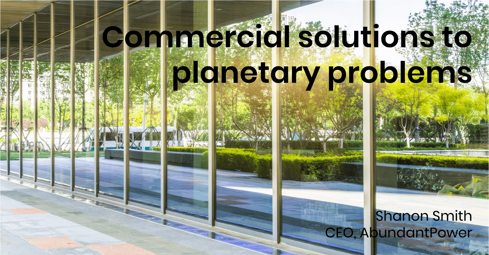Commercial Solutions for Planetary Problems